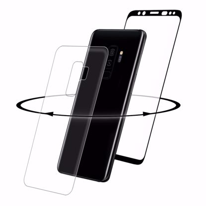 Picture of Eiger Eiger 3D 360 GLASS Tempered Glass Screen Protector for Samsung Galaxy S9+ in Clear/Black